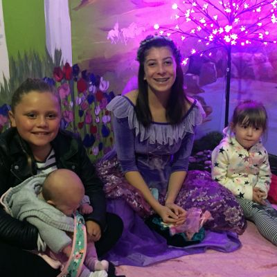 Faerie Seas Sparkle with friends at story telling