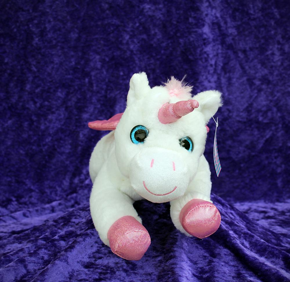 c83173e76c5d DAZZLE Lying Down Plush Unicorn - The Faerie Shop : The Faerie Shop